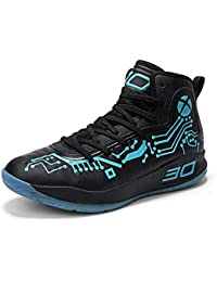 Womens Mens Fashion High-Top Cool Basketball Shoes Breathable Youth Sports Running Sneakers