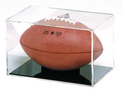 "BallQube Full Size Football Display Case - Holder - ""Grand Stand"""