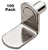 "One-Hundred (100) 1/4"" Nickel L-Shaped Shelf"