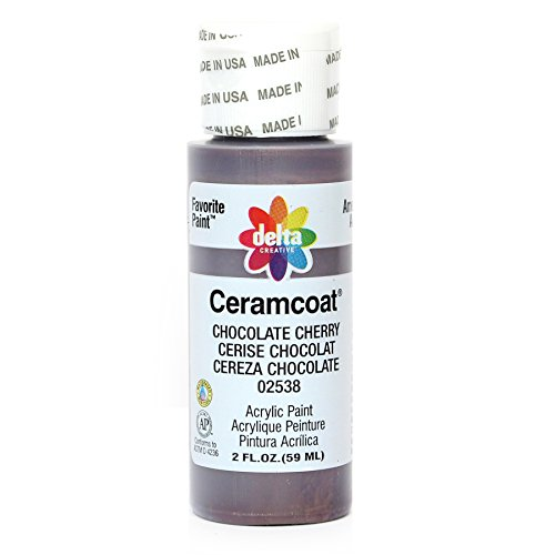 Delta Creative Ceramcoat Acrylic Paint in Assorted Colors (2 oz), 2538, Chocolate Cherry