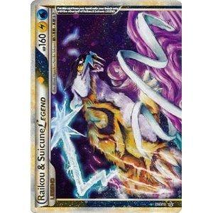Pokemon Legend HS2 Unleashed Single Card Raikou & Suicune LEGEND Top #92 Holo... (Suicune Cards Pokemon)