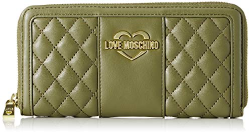 Love Nappa Portafogli Moschino Vert Verde Quilted Pu Portefeuilles rHr1Swqg