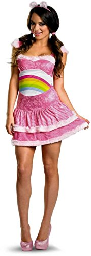 Care Bears Sassy Cheer Bear Adult Costume - Medium (Adult Care Bears Cheer Bear Costume)