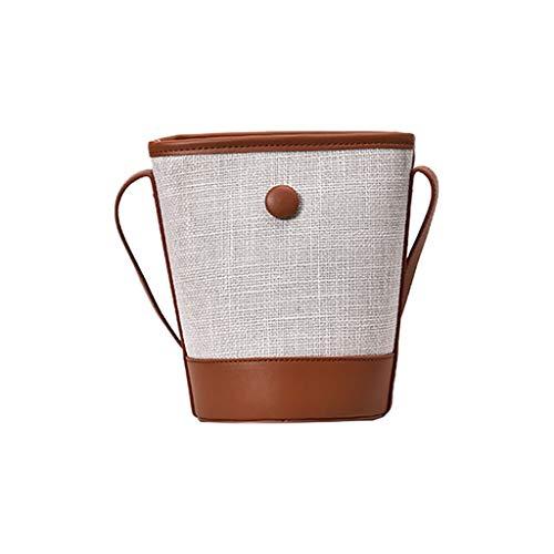 - Outique Women Bucket Bag Break Wild Bucket Bag Messenger Shoulder Bag Weaving Bag