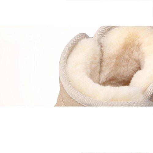 piatte Scarpe corto a da neve e tubo traspirante Stivali Antiscivolo caldo all'aperto donna da 39 xp7ww