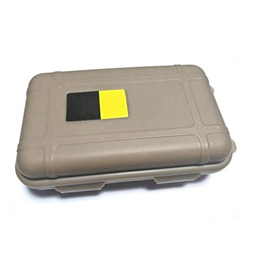 Doinshop NEW Outdoor Waterproof And Shockproof Storage Box Sealed Container Box (khaki, Large) (Outdoor Waterproof Storage Box)