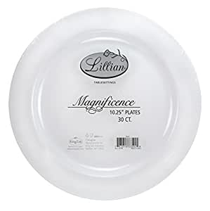 Premium Quality Heavyweight Plastic Plates China Like. Wedding and Party Dinnerware Plastic Plates 10.25 inch  sc 1 st  Amazon.com : quality plastic dinnerware - pezcame.com