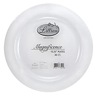 Premium Quality Heavyweight Plastic Plates China Like. Wedding and Party Dinnerware Plastic Plates 10.25 inch, White Pearl - Value Pack 30 Count (B015CXABPS) | Amazon price tracker / tracking, Amazon price history charts, Amazon price watches, Amazon price drop alerts
