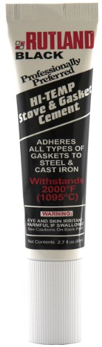 (Rutland Products Rutland Stove Gasket Cement, 2.3-Ounce Tube, Black)