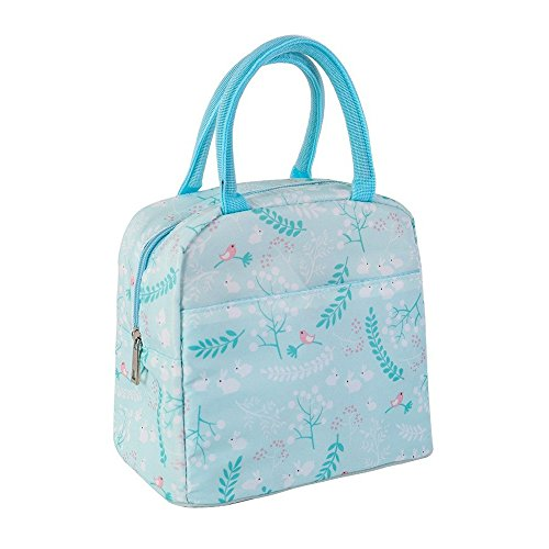 Mziart Insulated Lunch Bag, Reusable Lunch Tote Boxes for Wo