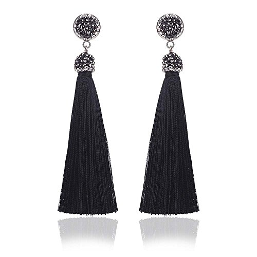 Fashion Bohemian Tassel Dangle Earrings Long Fringe Earrings