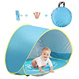 Felicigeely Baby Beach Tent with Pool Pop Up Shade Canopy with UV Protection