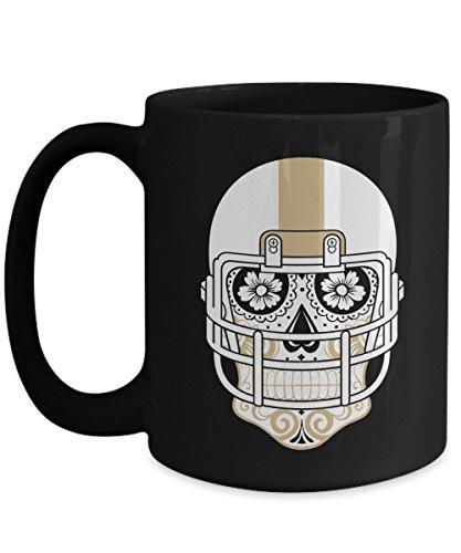 New Orleans Mug - New Orleans Sugar Skull Hometown Pride Football Coffee Mug