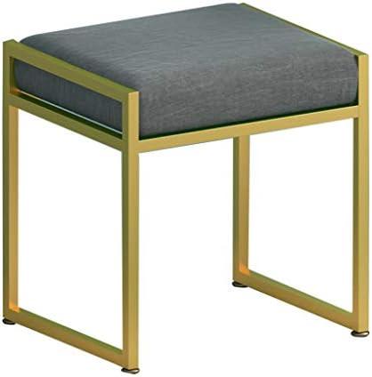 オスマンスツール 腰掛け フットレスト ドレッシングスツール リネンパッド入りプーフ 布張りプーフ椅子 滑り止め金属脚付き 最大積載量150kg