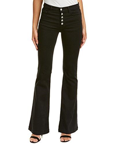 J Brand Flare Jeans (J Brand Womens Maria Seriously Black Flare Leg, 28, Black)