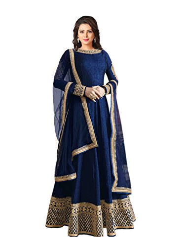 Rekha Ethnic Shop Blue Color Designer Women's Saree Bollywood Party Indian Wear Sari