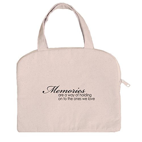 Tablet Bag Case Canvas Handles Memories Are Way Of Holding On Ones We Love