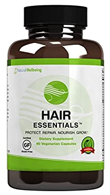 Hair Essentials Natural Hair Growth Supplement for Women and Men,