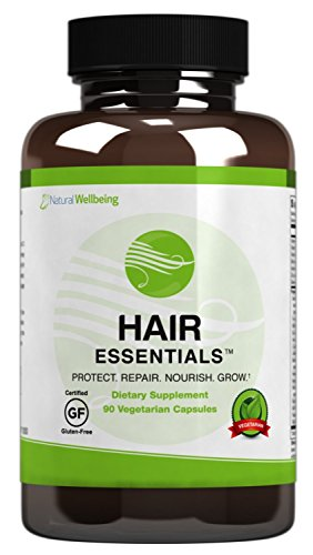 Hair Essentials Natural Hair Growth Supplement for Women and Men, 180 Count by Hair Essentials