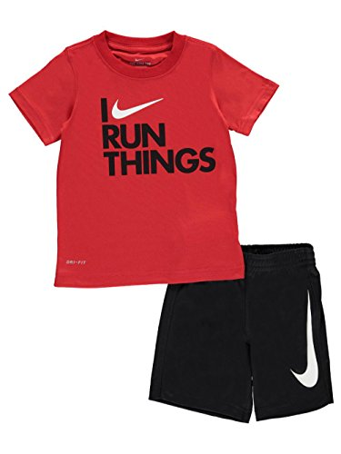 Nike Little Boys' 2-Piece Outfit (6, Black) (Nike Outfit)