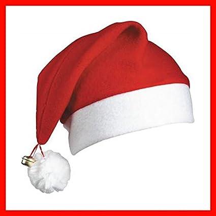 Gifts 4 All Occasions Limited SHATCHI-126 - Gorros de Papá Noel (12 unidades), diseño de campana de Navidad, color rojo y blanco: Amazon.es: Juguetes y juegos