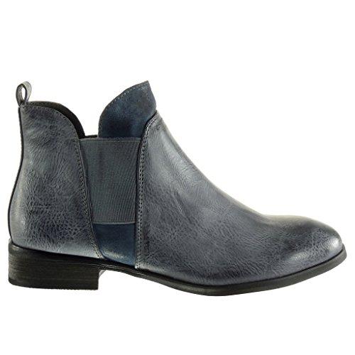 Bottine mati Angkorly chelsea Chaussure Mode boots cavalier bi qWwFT8