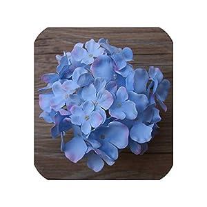 Artificial Flower Heads Hydrangea Orchid Flower DIY Flores Home Decoration Wedding Flower Bedroom Accessory 15pcs/lot,Sky Blue 36