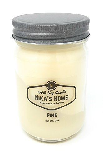 Retreat Soy Candle - Nika's Home Pine Soy Candle - 12oz Mason Jar