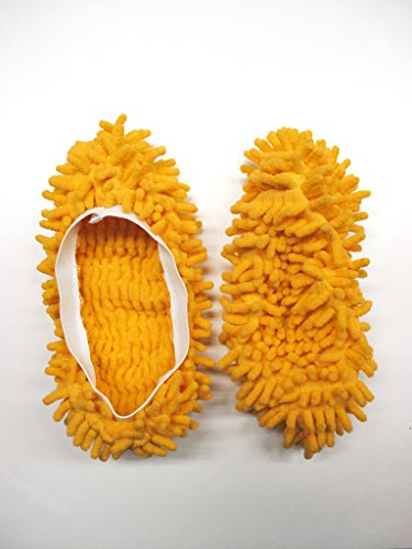 ORANGE MICROFIBRE DUSTER SLIPPERS MOP DUST CLOTH CLEANING FLOOR POLISHERS