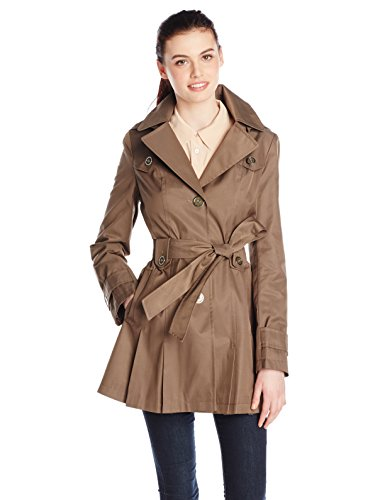 Belted Single Breasted Trench Coat - 1