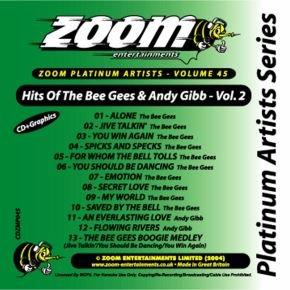 Zoom Karaoke CD+G - Platinum Artists 45: Bee Gees & Andy