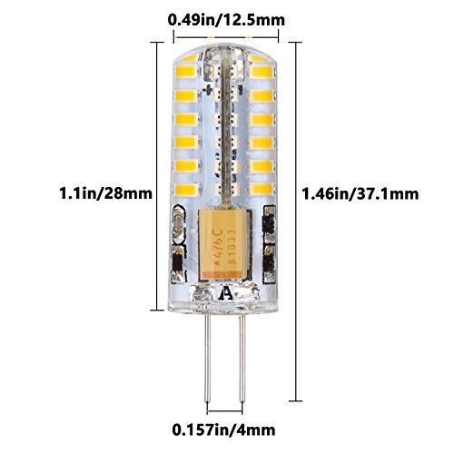 Weanas 10x G4 Base 48 Led Light Bulb Lamp 3 Watt Ac Dc 12v