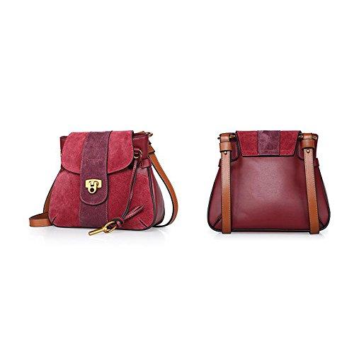 Asdflina Style Bag quotidiano Sella Ms Scrub Vino Portable Messenger Shoulder grigio adatto Materasso rosso Casual per l'uso colore HzUHrq