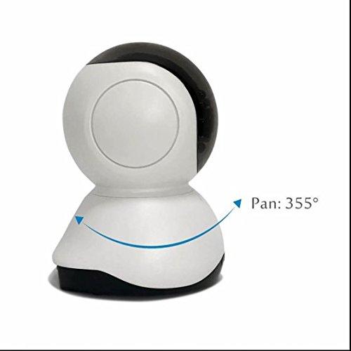 HD ip kamera Alarmanlagen Überwachungskamera Intelligente Echtzeit ÜBertragung Einfache Netzwerkverbindung ,fernsteuerbar,Wifi ip kamera Alarmanlagen mit Karteschlitz für 64GB Mikro SD,unterstützt iPhone/Android/Tablet,Pan/Tilt