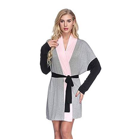Unisex Albornoz Hombre o Mujer Primavera Verano Batas y Kimonos con Cintur/ón,Muy Suave C/ómodo Fino Ligero y Agradable para Hombre o Mujer