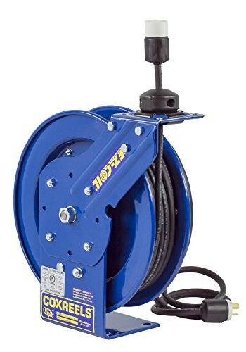 Coxreels EZ-Coil Safety Series Power Cord Reel with Single Receptacle - 50 Ft., Model# EZ-PC13-5012-A by Coxreels