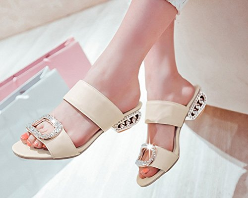 HiTime Femme Mules Femme Beige HiTime Beige HiTime Mules Y7Sq1S5