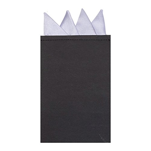 Plain Square Pre Colour Lilac Satin Classic Folded Pocket Point Solid Fold fqrwfxU1
