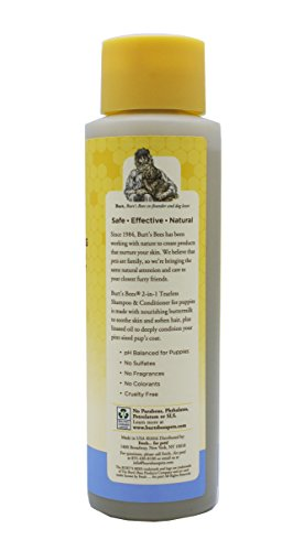 Large Product Image of Burt's Bees for Puppies Tearless 2 in 1 Shampoo and Conditioner with Buttermilk and Linseed Oil | Dog Shampoo, 16 Ounces