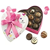 Lake Champlain Chocolates Traditional Valentine Assorted Truffles Heart Gift Box, 8 Pieces, 6.4 Ounces