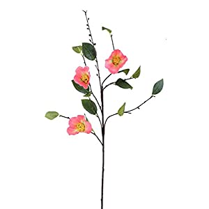 "Coral Pink Camellia Artificial Flower - 38"" Tall 11"