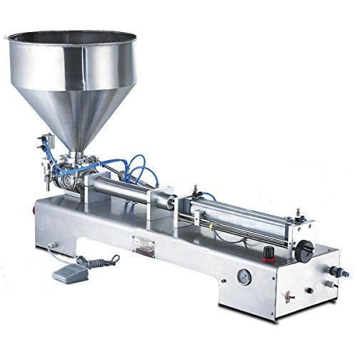 Pneumatic Filling Machine 50-500ml Semi-auto Pneumatic Liquid Filling with 40L Hopper Liquid Filling Machine for Liquid and Paste Filling (280) by Youlian