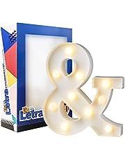 Don Letra - Letras Luminosas Decorativas del Alfabeto A-Z con Luces de LED para Decoración de DIY - W