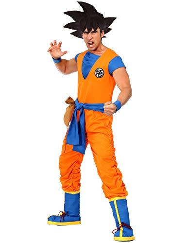 Krillin Halloween Costume (Dragon Ball Z Authentic Goku Men's Costume Medium)