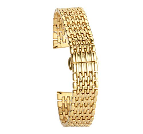 - Gold Watch Band for Womens 14Mm Luxury Watch Strap Bracelet Replacement