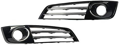 ペアフロントバンパーフォグランプグリルクロームカバーL + Rフィット感のためのアウディA8 2010年から2013年D4車のフロントグリル