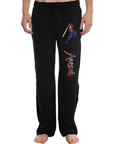 XJX Men's alundra 010 vaich Lounge Pajama Pants XXL Black
