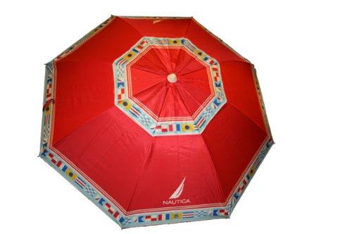 Nautica Beach Umbrella UPF 50+ Red