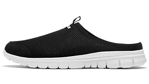 Leisure Outdoor Slippers Men's Black Anti Loafers Backless Breathable Walking Slip Shoes Shoes VANSKELIN Mesh qx6XvSv