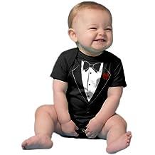 "Ann Arbor T-shirt Co. Unisex Baby ""Tuxedo Baby"" Funny Infant Humor One Piece"